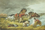 Life On The Prairie - The Trappers Defense, Fire Fight Fire, 1862 by Arthur Fitzwilliam Tait