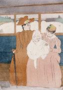 In The Omnibus, 1890 by Mary Cassatt