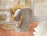 Femme Au Tub, From Elles, 1896 by Henri de Toulouse-Lautrec