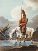 Cossack In Winter, 1809 by Aleksandr Osipovich Orlovskii