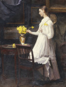 Arranging Daffodils by Carl Thomsen