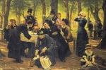 The Picnic, Dyrehaven, 1883 by Wenzel Tornoe