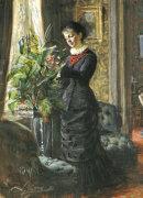 Portrait Of Fru Lisen Samson, Nee Hirsch, 1881 by Anders Leonard Zorn