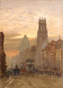 Fleet Street By Temple Bar, 1898 by Herbert Menzies Marshall
