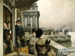 The Terrace Of The Trafalgar Tavern, Greenwich, C. 1878 by James Jacques Joseph Tissot