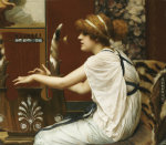 The Muse Erato At Her Lyre by John William Godward