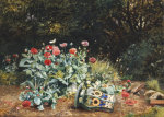 Summer Flowers In A Quiet Corner Of A Garden, 1882 by David Bates