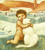 A Loving Hug by Sir Edward Burne-Jones