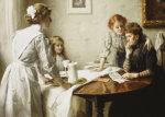 The Letter, 1912 by Sir Thomas Benjamin Kennington