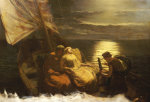 The Escape Of Glaucus And Ione, With The Blind Girl Nydia, From Pompeii by Paul Falconer Poole