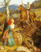 The Overthrowing Of The Rusty Knight by Arthur Hughes