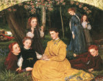 A Birthday Picnic by Arthur Hughes