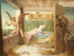 When Poverty Comes In At The Door, 1879 by George Frederic Watts
