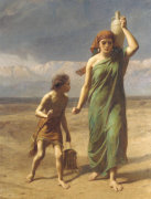 Hagar And Ishmael by Frederick Goodall