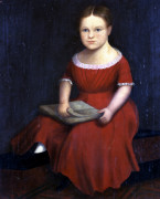 Portrait Of A Young Girl by American School