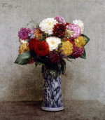 Dahlias in a Chinese Vase