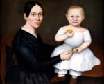 Portrait Of Woman And Child by American School