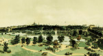 View Of The Public Gardens And Boston Common From Arlington Street by Edwin Whitefield