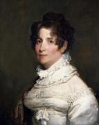 Portrait Of Miss Clementina Beach by Gilbert Stuart