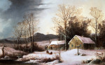 Farmstead In Winter by George Henry Durrie