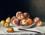 Still Life With Peaches And Pears by John F. Francis