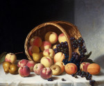 Still Life With A Basket Of Fruit by John F. Francis