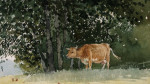 Cow In Pasture by Winslow Homer