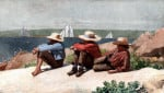 Watching Ships, Gloucester by Winslow Homer