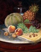 Still Life On A Marble-Topped Table by William Mason Brown