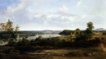 View On The Hudson River Near Tivoli by Thomas Doughty