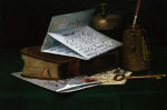 Tabletop Still Life, A Letter From New York by John Frederick Peto