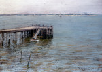 Long Island Pier by William Merritt Chase
