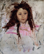 Sketch For Portrait Of Agnes, Age Six by Mary Cassatt