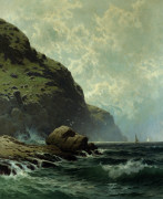 Rocky Coast by Alfred Thompson Bricher