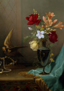 A Vase Of Mixed Flowers by Martin Johnson Heade