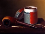 Still Life With Pipe by William Michael Harnett