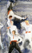 Acrobats- Balancing Act by Charles Henry Demuth