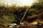 Ducks At A Brook by Arthur Fitzwilliam Tait