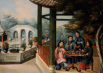 A Chinese Garden Scenes With Ladies Taking Tea by Adriaen Thomasz