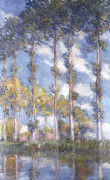 The Poplars by Claude Monet