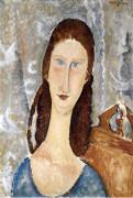 Portrait De Jeanne Hebuterne by Amedeo Modigliani