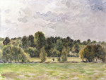 Eragny Evening by Camille Pissarro