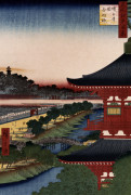 'Pagoda Of Zojoji, Akabane by Ando Hiroshige