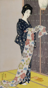 Young Woman In A Summer Kimono by Hashiguchi Goyo