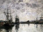Deauville, Le Bassin by Eugene Louis Boudin