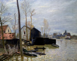 The Floods At Moret, Les Inondations A Moret by Alfred Sisley