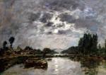 Moonlight by Eugene Louis Boudin