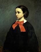 Portrait De Mlle Jacquet by Gustave Courbet