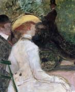 In The Bois De Bologne by Henri de Toulouse-Lautrec