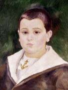 Head Of Young Boy In A Sailor Suit (Pierre Goujon) by Pierre Auguste Renoir